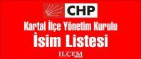 CHP Kartal İlçe Yönetim Kurulu İsim Listesi
