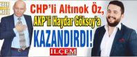 CHP'li Altınok Öz, AKP'li Haydar Göksoy'a encümeni kazandırdı!