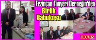 Erzincan Tanyeri Derneğin'den Birlik Babukosu.