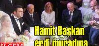 Hamit Şahinoğlu ve Serpil Acar Devlet Bahçeli'nin nikah şahitliğinde evlendiler.