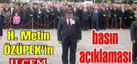 Metin ÖZÜPEK'in basın açıklaması
