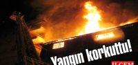 Pendik'te çıkan yangın mahalle halkına korku dolu anlar yaşattı.