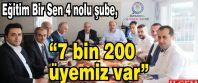 "Talat Yavuz, ""7 bin 200 üyemiz var"""