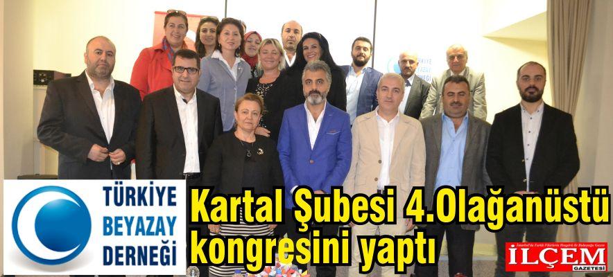 Türkiye Beyaz Ay Derneği Kartal Şubesi 4.Olağanüstü kongresini yaptı