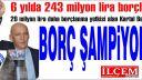 CHP'li Kartal Belediyesi Borç Şampiyonu!