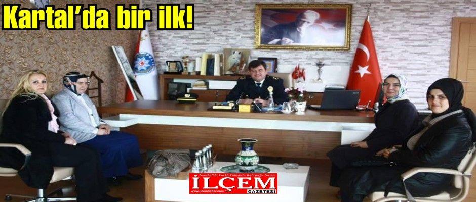 Zerin Armutcu'dan Kartal İlçe Emniyet Müdürü Efkan Korkmaz'a ziyaret