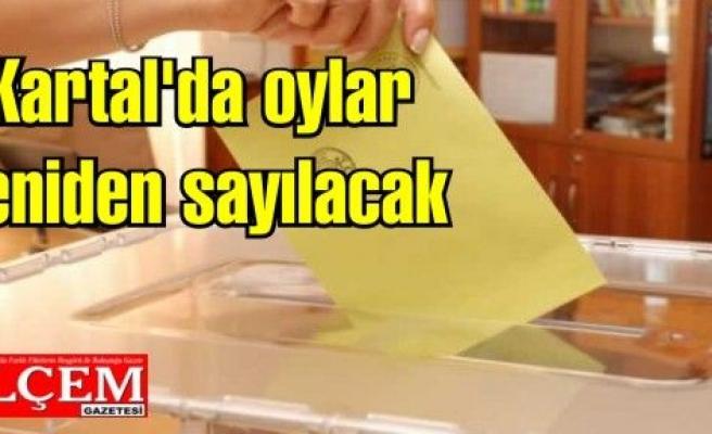 Kartal'da oylar yeniden sayılacak