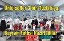 Ünlü şefler 3 bin Tuzlalı'ya, bayram tatlısı...