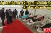 Teğmen Burak Evirgen İlkokulu'nda Kızılay'a kan bağışı.