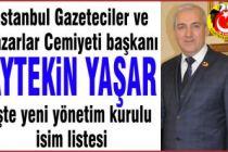 Aytekin Yaşar İstgad başkanı seçildi.