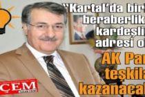 Abubekir Taşyürek 'Kartal'da birlik, beraberlik ve kardeşliğin adresi olan AK Parti teşkilatı kazanacak'