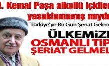 M. Kemal Paşa kanun çıkartarak bütün alkollü içkileri yasaklamamış mıydı?