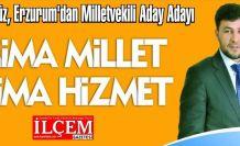Saki Akyüz, Erzurum'dan Milletvekili Aday Adayı