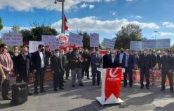 Yeniden Refah Partisi Kartal ilçe Başkanlığı İstanbul Sözleşmesini protesto etti.