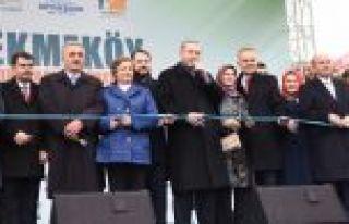 Cumhurbaşkanı Çekmeköy'de toplu açılışlar...