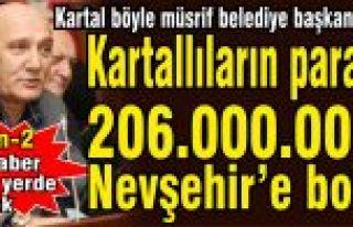 Kartal'ın paralarıyla Nevşehir'e 206 bin lira...