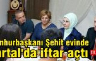 Cumhurbaşkanı Şehit evinde Kartal'da iftar...
