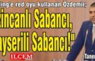"""Taner Özdemir """"O Erzincanlı Sabancı, bu Kayserili..."""