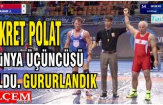 Fikret Polat güreşte Dünya üçüncüsü olup,...