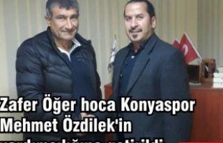 Zafer Öğer hoca Konyaspor Mehmet Özdilek'in...