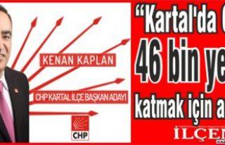 "Kenan Kaplan, ""Kartal'da CHP'ye 46 bin yeni..."