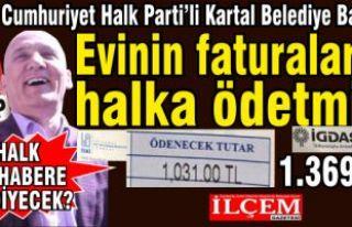 CHP'li Başkan Evinin Doğalgaz, Su faturalarını...