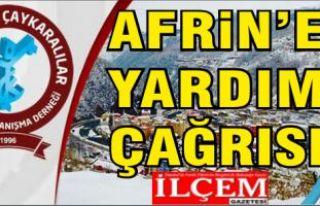 Trabzon ve Çaykaralılar Derneği'nden Afrin'e...