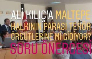 Ali Kılıç'a Maltepe halkının parası terör...
