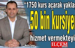 """Çangır, """"1750 kurs açarak yaklaşık 50 bin..."""