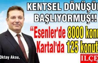 """Oktay Aksu, """"Esenler'de 8000 konut Kartal'da..."""