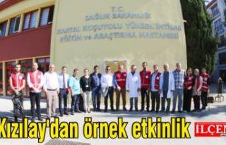 Türk Kızılayı Kartal Şubesi'nden örnek...