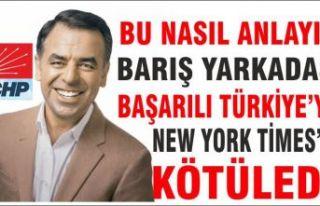 CHP'li Yarkadaş Türkiye'yi New York Times'e...