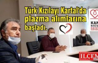 Türk Kızılayı Kartal'da plazma alımlarına...