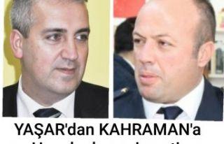 Aytekin Yaşar'dan Müslüm Kahramana hayırlı...