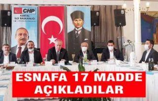 Kartal CHP'den Esnafa 17 maddelik destek paketi...