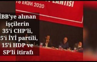 İBB'ye alınan işçilerin 35'i CHP'li,...