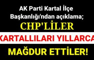CHP'liler engelleyerek Kartallıları mağdur...