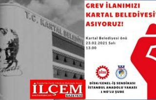 İşçilerden Maltepe Belediyesi ve Kartal Belediyesi'nde...