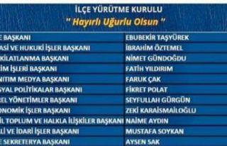 Kartal AK Parti ilçe yürütme kurulu şu isimlerden...