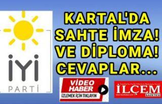 İYİ Parti Kartal'dan sahte imza ve diploma...