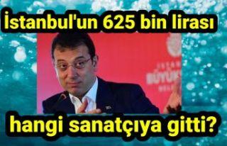 İstanbul'un 625 bin lirası hangi sanatçıya...
