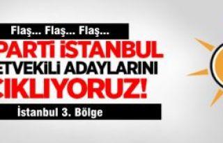 Ak Parti İstanbul 3. Bölge milletvekili adaylarının...