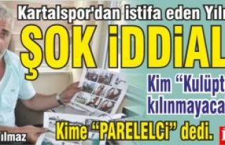 Ali Yüksel Yılmaz Kartalspor'dan istifa ettiğini...