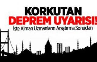 Almanlardan  Korkutan İstanbul'a Deprem ikazı
