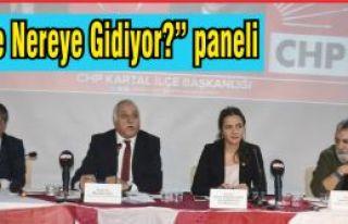 """CHP'den """"Türkiye Nereye Gidiyor konulu panel""""..."""
