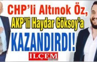 CHP'li Altınok Öz, AKP'li Haydar Göksoy'a encümeni...