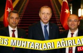Cumhurbaşkanı Muhtar Memiş Dikilitaş ve Erol Yurdakul'u...