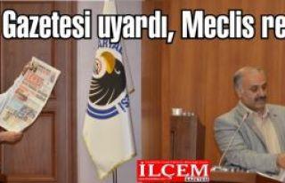 İlçem Gazetesi uyardı Hukuksuz Rant önergesi haberi...