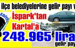 İspark'tan Kartal'a 248.965 lira gelir payı. İspark'tan...