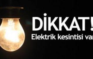 İstanbul Anadolu yakasında elektrik kesintisi!